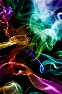 Smoke colorful, abstraction creative iPhone Wallpaper Preview