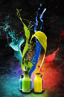 Splash of watercolor paint iPhone Wallpaper Preview