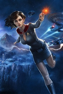 Star Trek Online, beautiful girl iPhone Wallpaper Preview