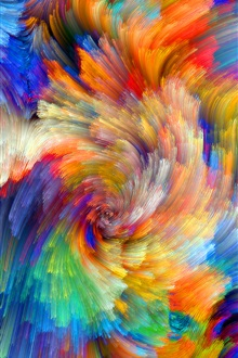 Rainbow pattern, colorful lines, abstract pictures iPhone Wallpaper Preview