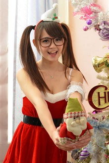 Red dress, Christmas girl iPhone Wallpaper Preview