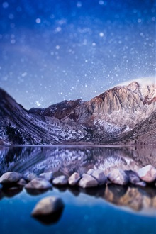 Convict Lake, California, USA, mountains iPhone Wallpaper Preview