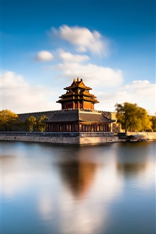 Beijing Forbidden City Moat, China, river iPhone Wallpaper Preview