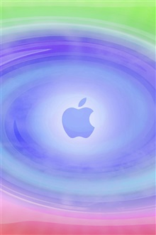Apple circle blue background iPhone Wallpaper Preview