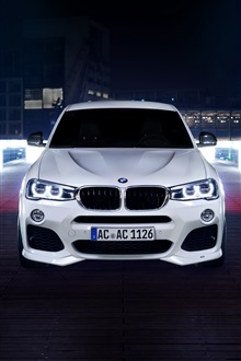 BMW ACS X4 white car front view iPhone Wallpaper Preview