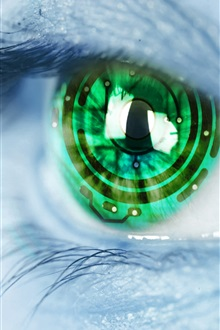 Creative pictures, eyes, technology iPhone Wallpaper Preview