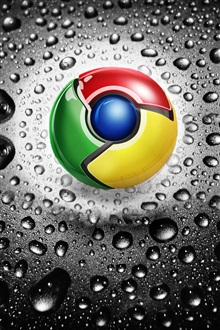 Google Chrome logo iPhone Wallpaper Preview