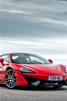 McLaren 570S red supercar iPhone Wallpaper Preview