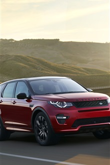 2015 Land Rover Range Rover red SUV iPhone Wallpaper Preview