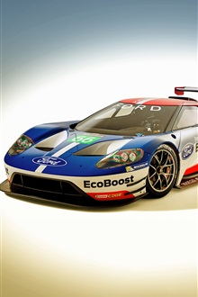 2016 Ford GT race car iPhone Wallpaper Preview