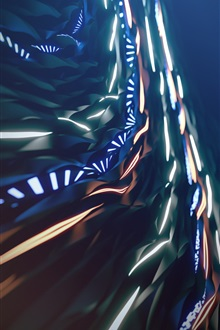 Abstract pictures, light, lines iPhone Wallpaper Preview