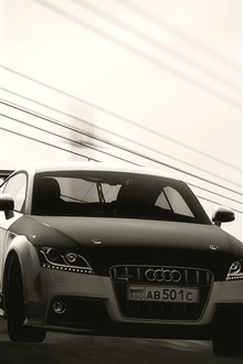 Audi car front view iPhone Wallpaper Preview