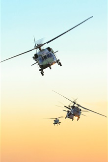 Black Hawk, air force Brazil, sky, helicopter iPhone Wallpaper Preview