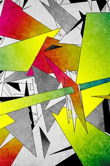 Colorful abstract graphics iPhone Wallpaper Preview