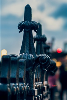 London street fence close-up iPhone Wallpaper Preview