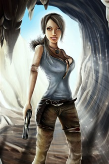 Tomb Raider, Lara Croft, game girl iPhone Wallpaper Preview