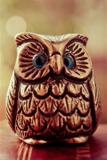 Wood art, owl iPhone Wallpaper Preview