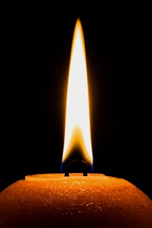 Darkness, candle, fire, flame iPhone Wallpaper Preview