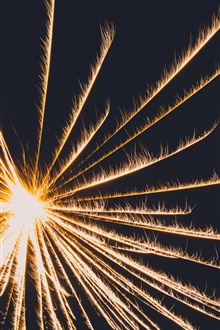 Fireworks, sparks, night iPhone Wallpaper Preview