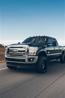 Ford pickup speed, road iPhone Wallpaper Preview