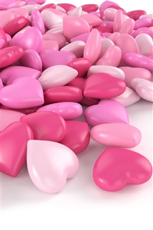 Pink love heart candy iPhone Wallpaper Preview