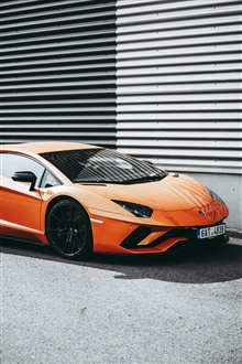 Lamborghini orange supercar iPhone Wallpaper Preview