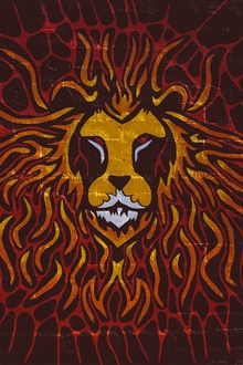 Lion art painting, graffiti iPhone Wallpaper Preview