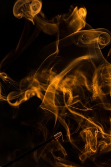 Yellow abstract smoke iPhone Wallpaper Preview