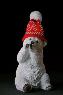 Bear statue, hat iPhone Wallpaper Preview