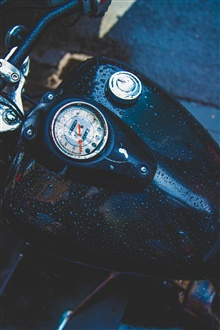 Motorcycle, speedometer, water droplets iPhone Wallpaper Preview
