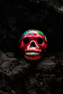 Skull, paint iPhone Wallpaper Preview