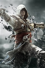 2013 game, Assassin's Creed 4: Black Flag iPhone wallpaper