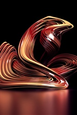 3D abstract curve iPhone wallpaper