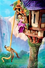3D cartoon movie, Tangled iPhone wallpaper