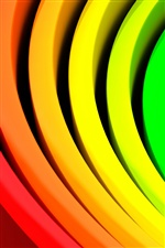 Abstract circle colors iPhone wallpaper