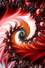 Abstract spiral pattern iPhone wallpaper