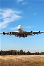 Airbus A380 Airplane flying iPhone wallpaper