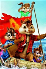 Alvin and The Chipmunks 3 iPhone wallpaper