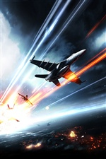 Battlefield 3 fighters iPhone wallpaper