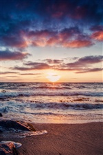 Beautiful sea coast sunrise iPhone wallpaper