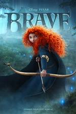 Brave 2012, movie poster iPhone wallpaper
