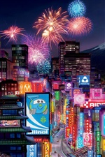 Cars 2 Tokyo City iPhone wallpaper