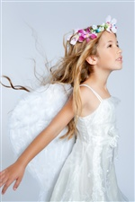 Cute girl dreaminess, like an angel iPhone wallpaper