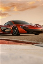 Orange McLaren P1 car iPhone wallpaper