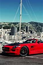 Red Mercedes SLS AMG Hamann car iPhone wallpaper
