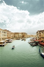 Venice, Italy, houses, boats, canal iPhone wallpaper