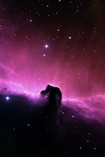 Beautiful purple nebula in space iPhone wallpaper
