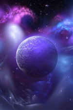 Blue universe planet iPhone wallpaper