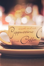 Cappuccino coffee, cup iPhone Wallpaper