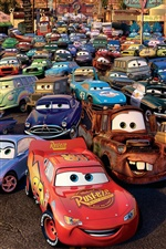 Cars 2, 3D movie iPhone wallpaper